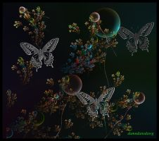 balloons and butterflies by damndansdawg