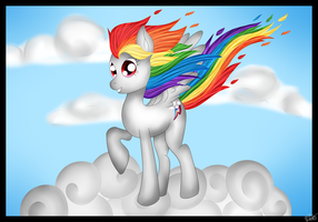 Super Rainbow Dash Wallpaper by Lali-the-Bunny