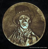 Billy The Kid Coin Carving Hobo Nickel by shaun750