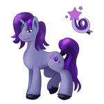 OC Pony - Purple Daze by Hellbeholder