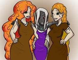 Two Nords and an Elf by MisAnimal