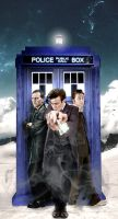 Doctor Who -Fiftieth Anniversary The Three Doctors by PlausiblePictures