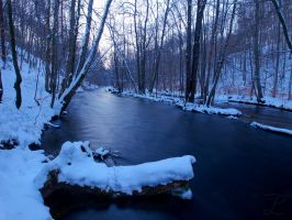 Icy river by da-phil