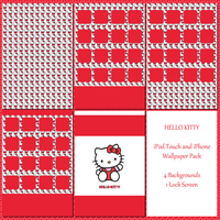 Hello Kitty Wallpaper Pack for iPod and iPhone by cupcakekitten20