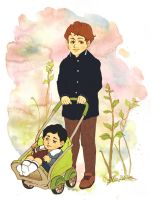 Mycroft and sherlock childhood by KimShuttle