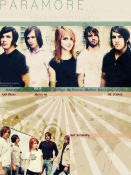 Paramore Layout by sovereign07