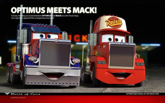 Cars | Optimus meets Mack by danyboz