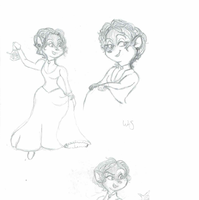 Mlle Caultry sketches by WingsOfASong