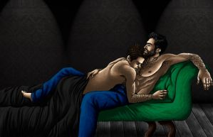 sterek cuddles by Raikea