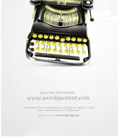 Typewriter illustration by freakyframes