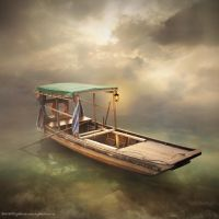 wooden boat by evenliu