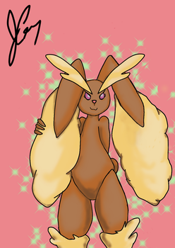 Lopunny fan-art Digital Mobile #1 by RenaSpyro