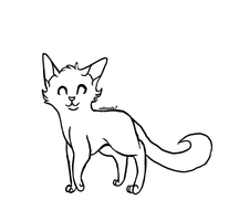 Short furred cat lineart by collie-rado