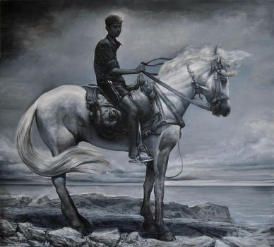 Boy on horse by MathieuNozieres