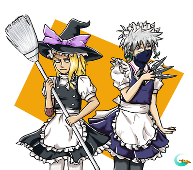 Explosive Magician and Chief Maid of Konoha by Galaxianista