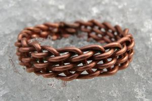 Woven Copper Ring by Wabbit-t3h