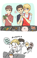 tony/steve cooking time by kurorolls