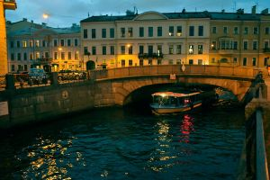 St Petersburg canal - evening - 1 by wildplaces