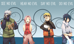 The 4 Wise Monkeys ~ NARUTO-IZED by Rejuvenesce