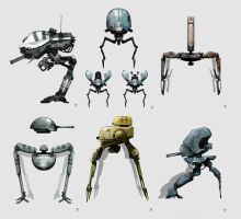 OLD tobot/mech Concept Art by torvenius