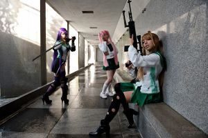 Highschool of the Dead Girls by Hikaru-Jan