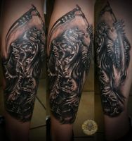 Harlequin Reaper by 2Face-Tattoo