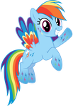 Rainbow Dash - Rainbowfied from Group Shot by CaliAzian