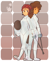 fencing ladies by hyoutas