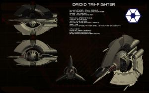 Droid Tri-fighter ortho by unusualsuspex