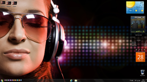 Girl listening to music desktop v2 by LazyLaza