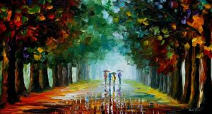 Bright rain by Leonid Afremov by Leonidafremov