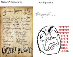 [APH] Nations' signature VS my signature by Sarah-Rika