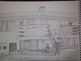 House Pencil Drawing by ShadowChaos24