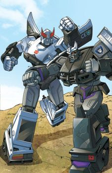 Transformers: Prowl VS Barricade by ZeroMayhem