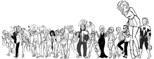 Halloween Party Hunters W.I.P. by GoldenSnowfire