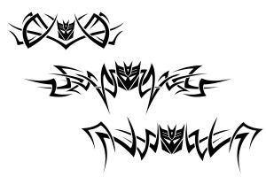 Decepticon Tribal Tattoos by bee930