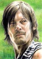 Norman Reedus miniature by whu-wei