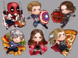 Avengers: Age Of Delicatessen (acrylic charms) by PencilCrown