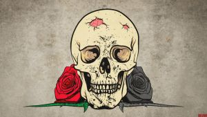Skull death or live by Bajan-Art