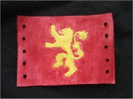 Game of Thrones House Lannister Leather Cuff by RebelATS