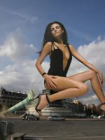 Fernanda Tavares takes a seat in Paris by Accasbel