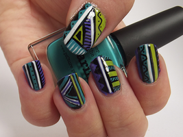 Tribal/Doodle Manicure by Ithfifi