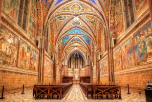 Basilica of San Francesco d'Assisi -Upper Basilica by valiunic