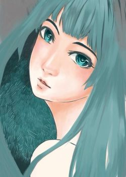 Green Girl -- in progress -- by awasetsu
