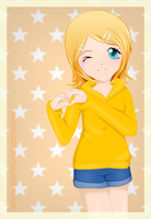 rin kagamine by cotton-candy-dreamer