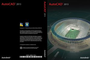 AutoCad 2013 - DVD Cover by erickcartman