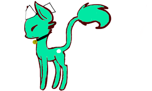 Teal Cat for Sapphyst by superstel