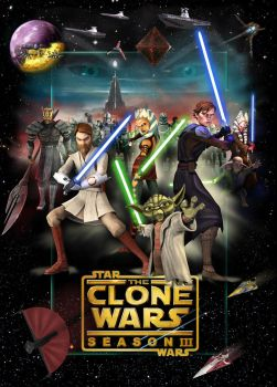 Clone Wars 3 poster by denisogloblin