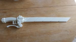 3D printed Cosplay Maneuver Gear Sword by SniperWolf87