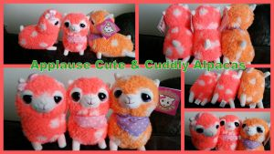 Applause Cute and Cuddly Alpacas Bright Orange by Vesperwolfy87